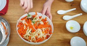 Salada de cenouta - Passo 3