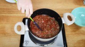 Arroz de carne moída - Passo 3