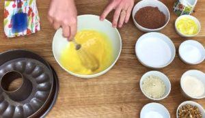 Bolo de Chocolate Fit Low Carb - Passo 1