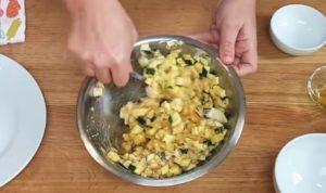 Torta Quiche Vegetariana de Abobrinha - passo 3