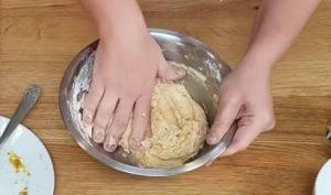 pao de queijo de batata doce - passo 3