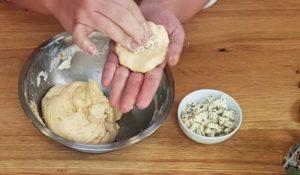 pao de queijo de batata doce - passo 4