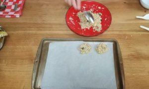 cookie de banana fit low carb - passo 4