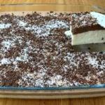 Sobremesa de coco com chocolate