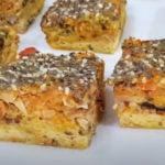 Receita de bolo de sardinha com legumes light e saudável