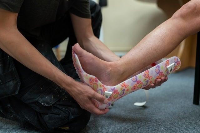 Imobilização de tornozelo