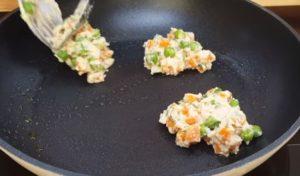 panqueca de ervilha com cenoura - passo 5