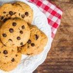 Receita de cookie de farinha de coco com manteiga de amendoim