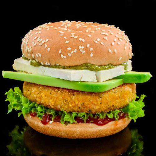 Hambúrguer de grão-de-bico