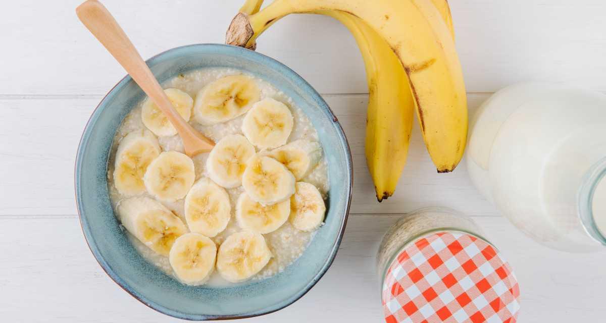 Mingau com banana