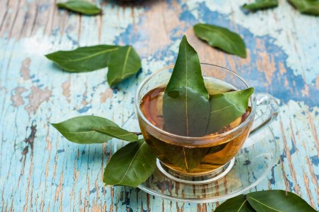 Chá de folhas de louro