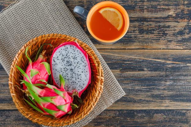 Pitaya rosa com polpa branca