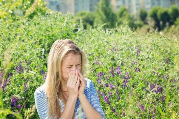 sintoma de reação alérgica