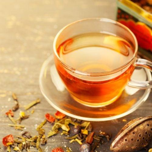 Xícara de chá de espinho cheiroso
