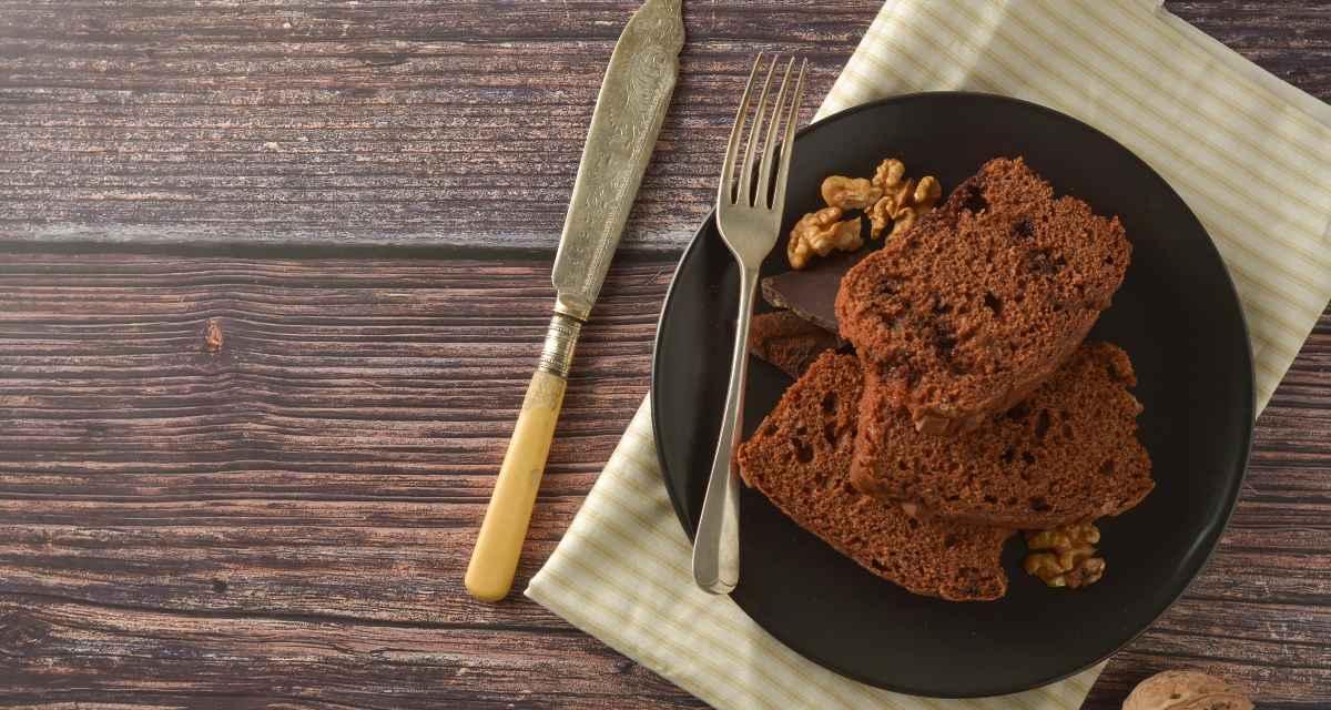 Bolo de chia e chocolate