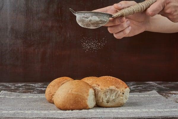 Pão com farinha de jatobá