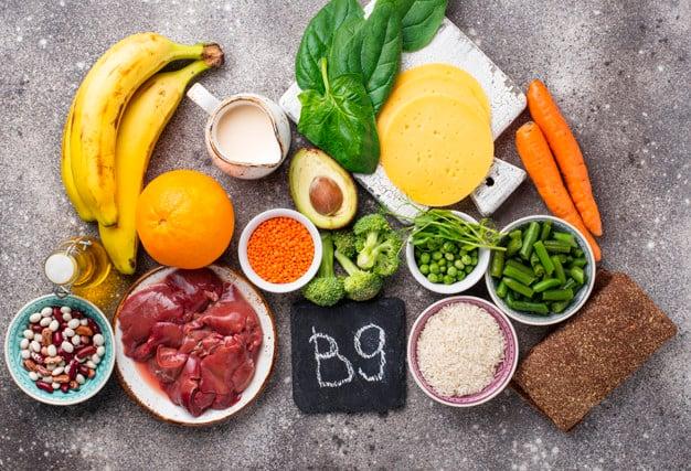 Alimentos ricos em vitamina B9 (ou ácido fólico)