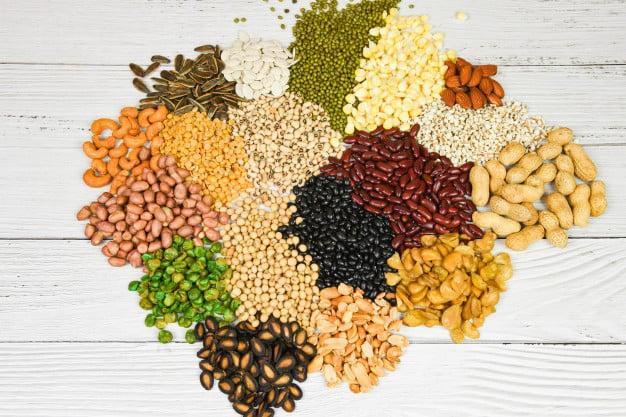 grãos e cereais integrais