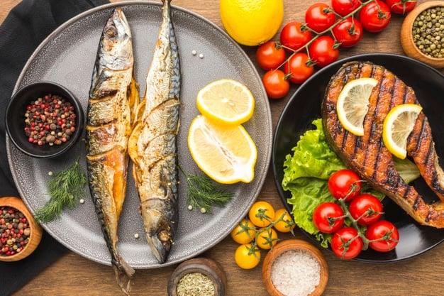 peixes assados