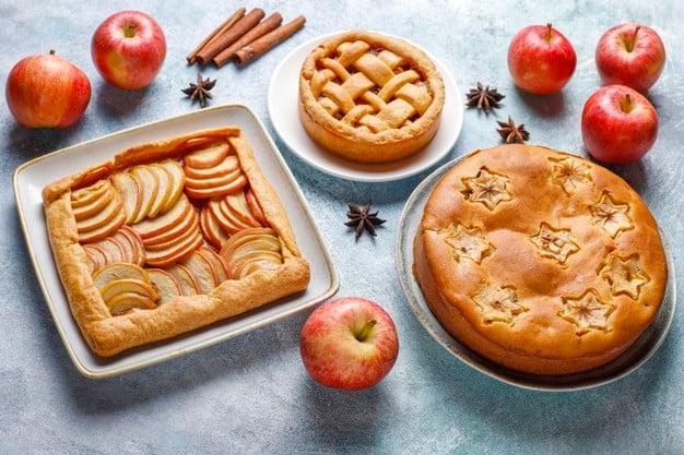 Tortas de maçã