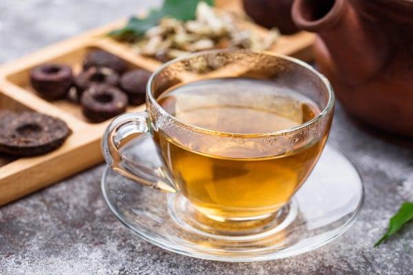 taza de té pu-erh