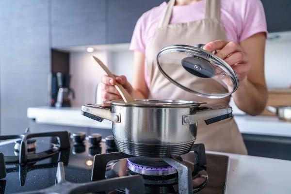 Cozinhar com caruru planta