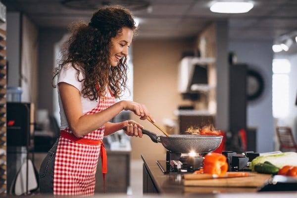 Cozinhar com farinha de araruta