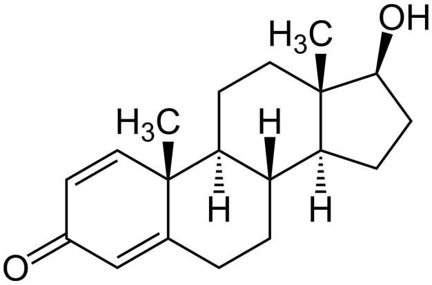 Estrutura química da Boldenona