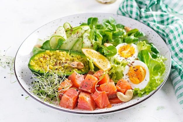 alimentos de uma dieta sem carboidratos