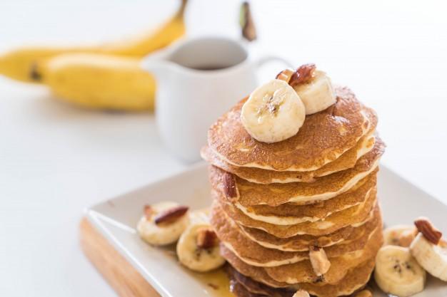 panqueca de banana com whey