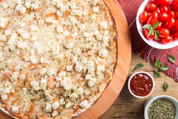 pizza de palmito com whey protein