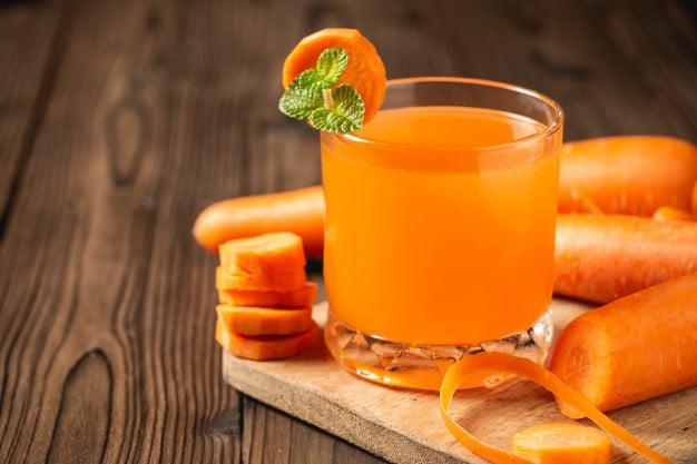 cenoura e suco