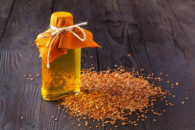 óleo de linhaça dourada