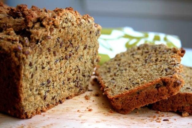 Pão integral com farinha de casca de maracujá