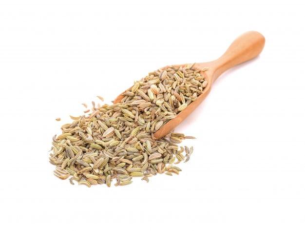 Sementes secas de erva doce