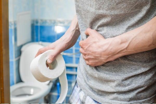 Pessoa com diarreia