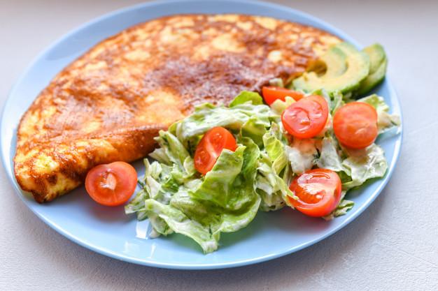 receitas de omelete de espinafre
