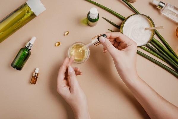 aceite esencial en la piel