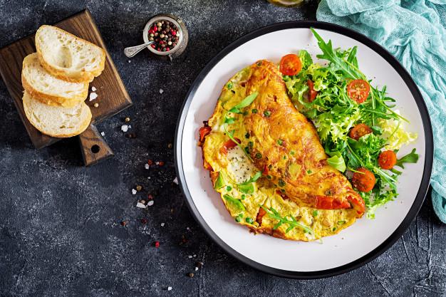 omelete de espinafre light