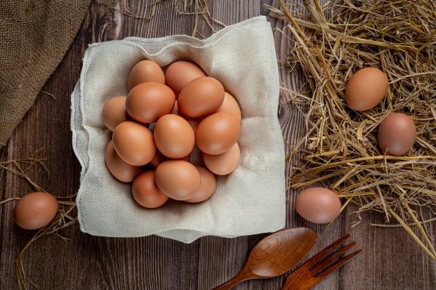Ovos em uma cesta