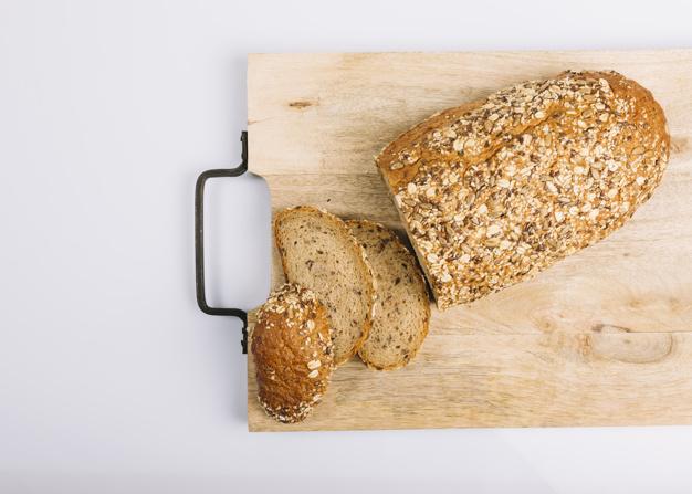 pão de farinha de casca de maracujá