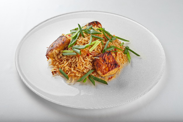 pilaf com arroz selvagem