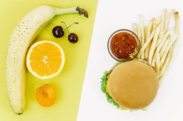 Dieta e hambúrguer