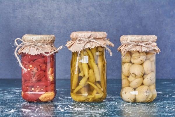 alimentos fermentados em conserva