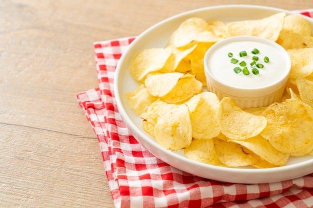 batata fritas em fatias