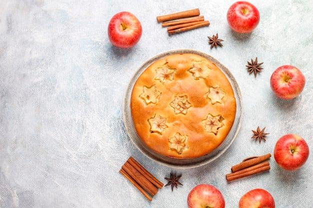 bolo de maçã com coco