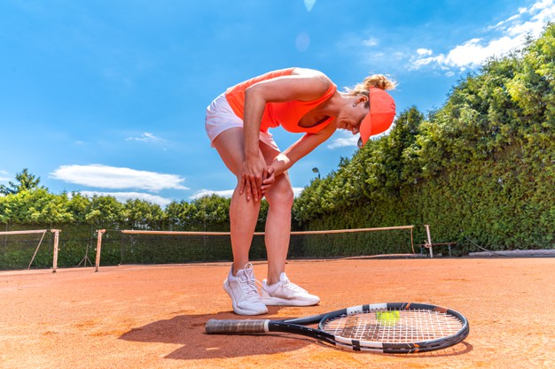 bursite jogando tênis