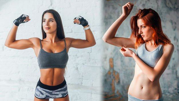 Mulher definida vs mulher magra