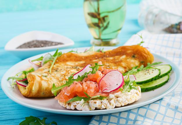 omelete de espinafre light com ricota
