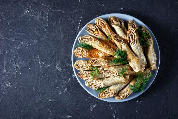 Receita de Panqueca com brócolis e cogumelos
